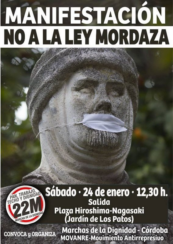 Cartel Ley Mordaza -pequeño