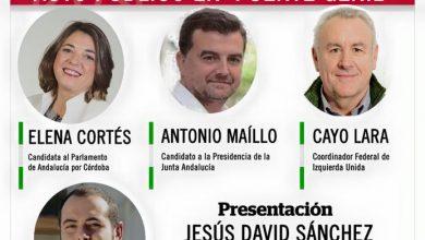 Photo of Cayo Lara, Elena Cortés y Antonio Maillo arrancan la campaña en Puente Genil