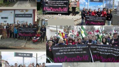 Photo of IU pide el cercanías con despliegues de pancartas en todas las estaciones del Valle del Guadalquivir