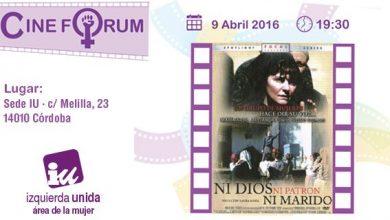 Photo of II Cine Fórum del Área de Mujer de IU
