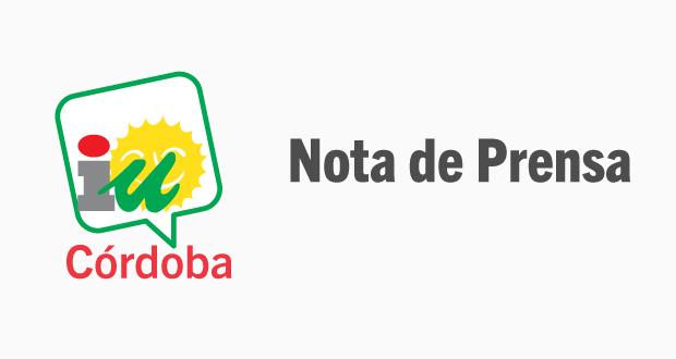 Nota de Prensa - Logo IU Córdoba
